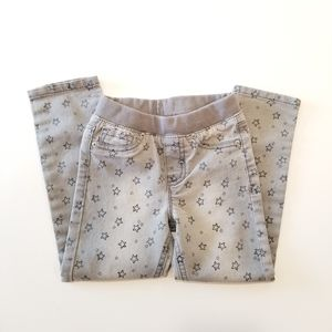 2/$12 Cat & Jack Grey Star Pattern Pants EUC